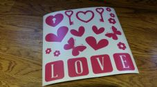 Valentines Decal Set - Mixed Elements